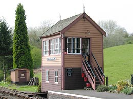Hampton Loade signal box - click to open larger image in a new window