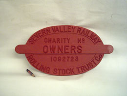 Owners Plate